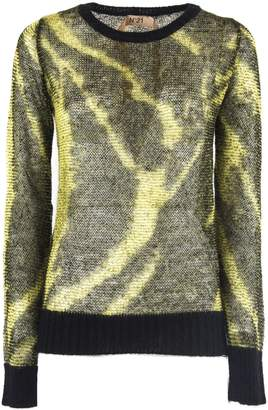 N°21 N.21 Black And Yellow Mohair Sweater