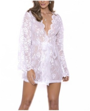 iCollection Women's Willow Lace Dressy Wrap Robe, Online Only