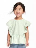 Old Navy Flutter-Sleeve Peplum-Hem Top for Toddler