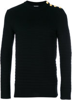 Balmain striped wool sweater - men - Wool - S