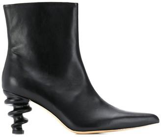 Kalda structured heel ankle boots