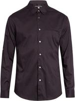 John Varvatos Crosshatch-print cotton shirt