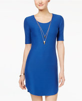 Planet Gold Juniors' Necklace Bodycon Dress