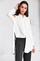 Silence & Noise Silence + Noise Ciara Cold Shoulder Button-Down Shirt