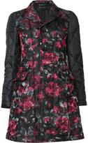 Comme des Garcons floral quilted coat - women - Silk/Polyester - XS