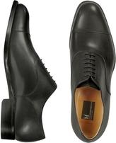 Moreschi Londra - Black Calfskin Cap Toe Oxford Shoes