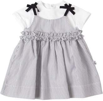 Il Gufo Striped Cotton Dress & Jersey Top