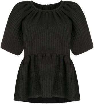 GOEN.J peplum short-sleeve blouse