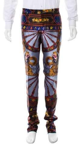 Dolce & Gabbana 2016 Silk Dragon Motif Pants w/ Tags