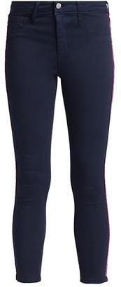L'Agence Margot High-Rise Velvet Tape Skinny Jeans