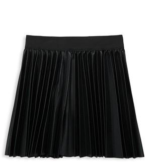Hannah Banana Little Girl's & Girl's Faux Leather Pleated Skirt