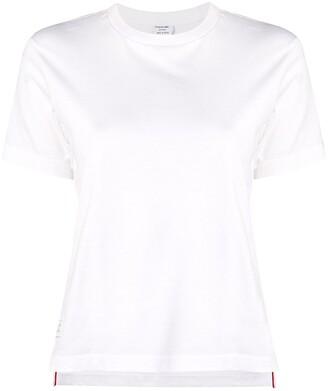 Thom Browne logo-patch short-sleeve T-shirt