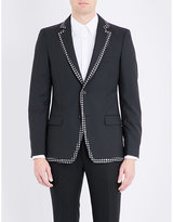 Alexander Mcqueen Patterned-trims Wool And Mohair-blend Jacket