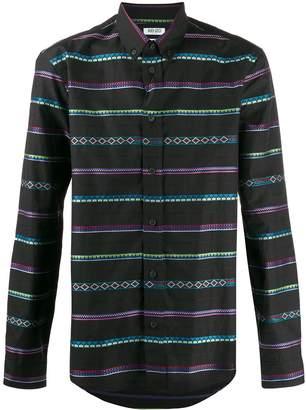 Kenzo geometric striped shirt