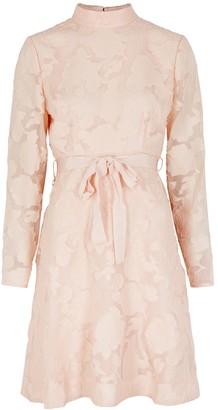 Keepsake Offset Blush Floral Fil Coupe Mini Dress