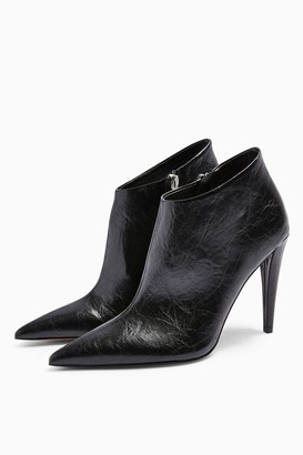 Topshop Womens Harlow Black Point Boots - Black