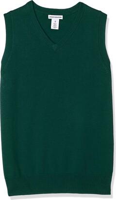 Amazon Essentials Big Boys' Uniform V-Neck Sweater Vest
