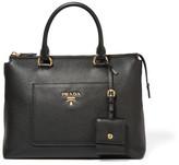 Prada Textured-leather Tote - Black