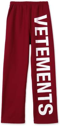 Vetements logo sweatpants red