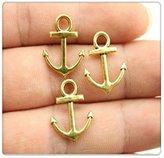 Nobrand No brand 10pcs 1915mm antique gold anchor charms