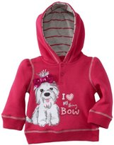 Sesame Street Watch Me Grow! by Baby-girls Infant I Love My Shiny Bow Hooded Shirt