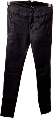 One Step Anthracite Cotton Trousers for Women