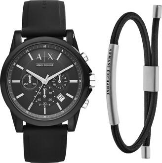 Armani Exchange Unisex Watch AX1326 + Men's Bracelet with Strap AXG0041040