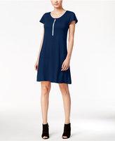 Kensie Zip-Detail T-Shirt Dress