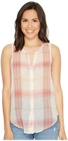 Lucky Brand Sleeveless Tie Front Top Women's Clothing