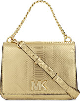 MICHAEL Michael Kors Snake-embossed leather clutch