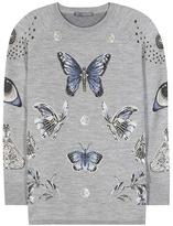 Alexander McQueen Brocade Wool-blend Sweater