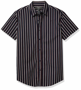 Forever 21 Men's Striped Fitted Shirt