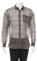 Dries Van Noten Windowpane Button-Up Shirt