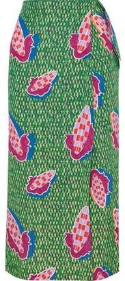 Stella Jean Printed Woven Midi Wrap Skirt