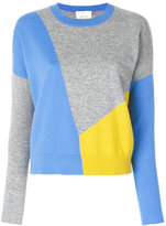 Allude colour block jumper