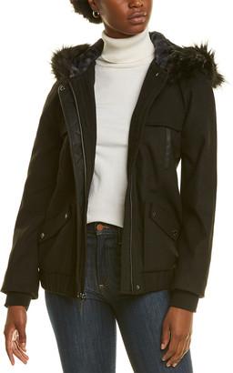 Kensie Wool-Blend Bomber Jacket