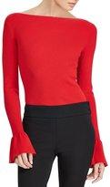Lauren Ralph Lauren Ruffle Cuff Cotton Sweater