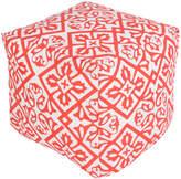 Surya Intricate Geometric Square Pouf