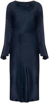 Hayley Hasselhoff for Elvi Plus Size Fluted sleeve satin dress