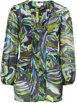 Almost Famous Picasso Print Chiffon Blouse