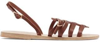 Ancient Greek Sandals Mathraki Caged Leather Slingback Sandals - Womens - Dark Brown
