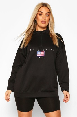 boohoo Plus Soft Zip Up Oversized Sweat