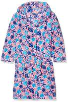 Playshoes Girl's Fleece Bathrobe Violets Dressing Gown,(Manufacturer Size:134/140)