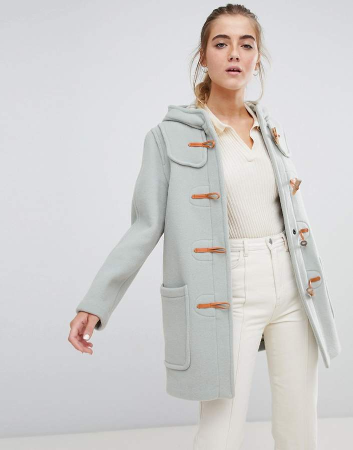 Gloverall Melissa short duffle coat with hood