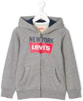 Levi's Kids logo zipped hoodie