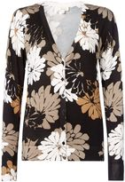 Linea Shadow floral print cardigan