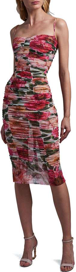 Thumbnail for your product : Dolce & Gabbana Ruched Floral-Print Bodycon Dress