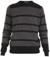 Sun 68 Striped Wool And Cotton Blend Sweater