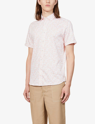 Ted Baker Graphic-print stretch-cotton shirt
