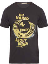 Nudie Jeans O-Neck Eyes Black Slogan T-Shirt